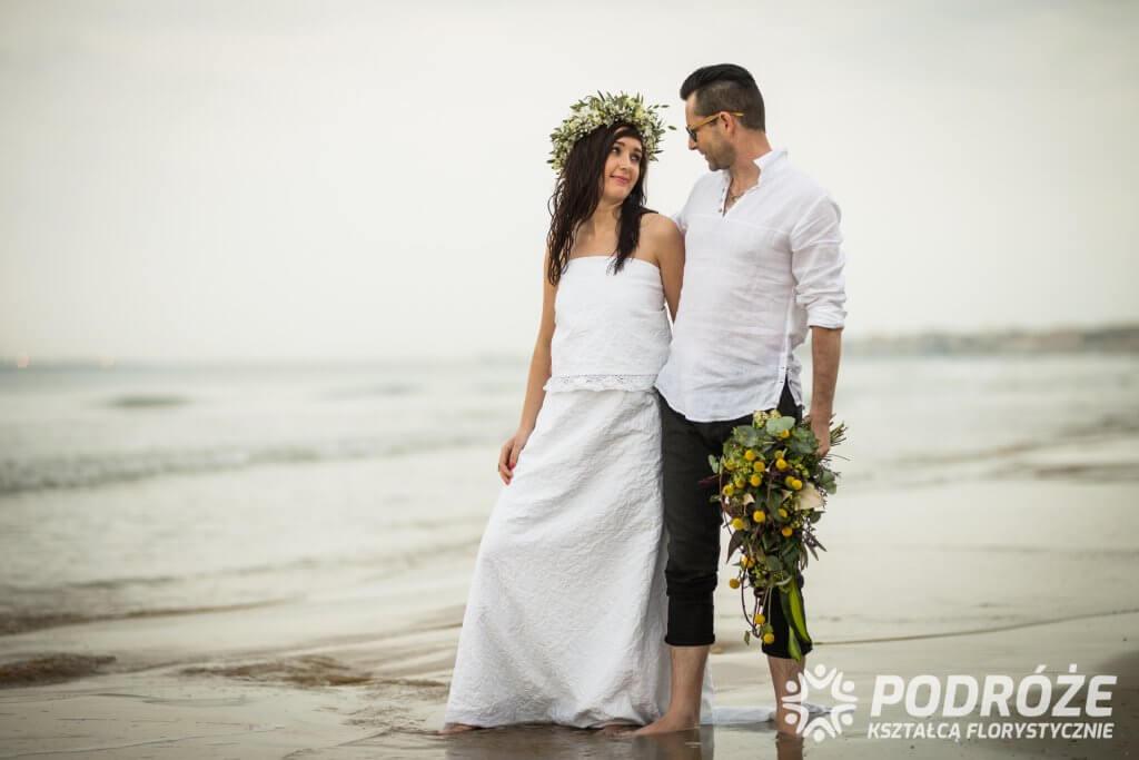 Sesja ślubna na Sycylii - bukiety ślubne